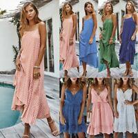 Womens Summer Mini Maxi Dress Evening Cocktail Party Beach Dresses Sundress Y9
