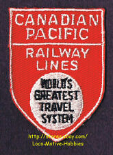 LMH Patch  CANADIAN PACIFIC RAILWAY LINES Worlds Greatest Travel System CP CPR