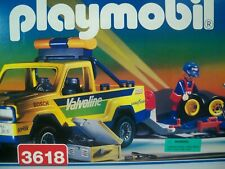 K190493 YELLOW TRUCK PLAYSET MISB MINT IN SEALED BOX PLAYMOBIL 3618 VINTAGE