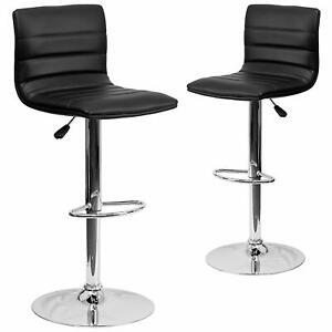 Flash Furniture Contemporary Adjustable Height Chrome Base Barstool