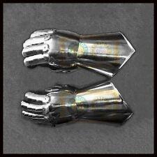 Medieval Gauntlets Pair Set of 2 Gloves Knight Re-enactment Metal Plate Armor