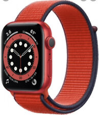 Apple Watch Series 6 44mm Red Aluminum Case with Red Loop Band - BONUS ITEMS