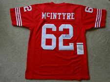 GUY MCINTYRE SIGNED AUTO SAN FRANCISCO 49ERS RED JERSEY JSA AUTOGRAPHED
