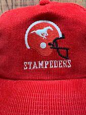 Vtg Calgary Stampeders CFL Corduroy Ted Fletcher the classic Snapback Hat Cap