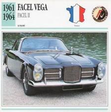1961-1964 FACEL VEGA FACEL II Classic Car Photograph / Information Maxi Card