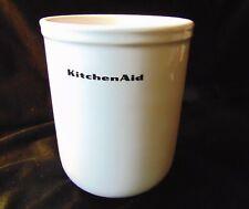 KitchenAid Ceramic WHITE Kitchen Utensil Holder Crock - No Divider
