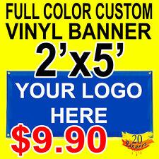 Full Color Custom Vinyl Banner 2'x5'