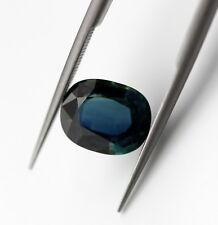 3.07 Ct IGI Certified Natural Blue Sapphire Loose Ceylon Cushion Cut Gemstone A+