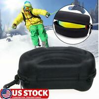 Snow Ski Goggles Case Snowboard Skiing Goggle Sunglasses Carrying Bag Zipper Box