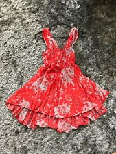 Finders Keepers colourful coral red and grey summer dress size 8