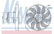 NISSENS Ventilador Para VW TRANSPORTER 85619