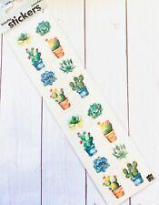Succulents Cactus  Plants Stickers Envelope Seals  Planner Supply Papercraft
