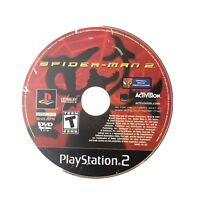 PS2 Spider-Man 2 PlayStation 2 DISC ONLY A1144 Scratched Video Game Spiderman