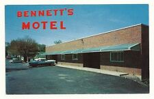BEDFORD PA Bennett's Motor Lodge Motel Vtg 1950's Car