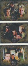 Buffy Big Bads Inkworks SET OF 3 TRIPLE THREAT  BOX LOADER CARDS