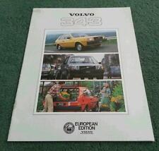 1979 Volvo 343 340 Reino Unido exportación/turístico & diplomática 28pg color folleto de ventas