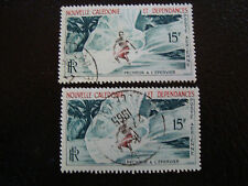 NOUVELLE CALEDONIE timbre yt aerien n° 67 x2 obl (A4) new caledonia (E)