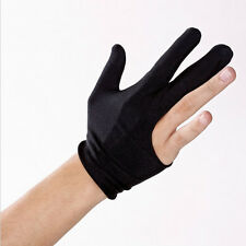 Black Cue Billiard Pool Shooters 3 Fingers Gloves