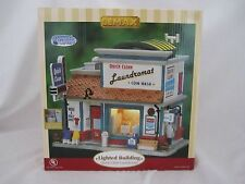 Lemax Plymouth Corners Quick Clean Laundromat # 75511 @ 2007 NEW