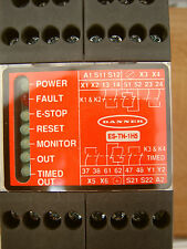 Banner E-Stop Safety Module with Adjustable Delay ES-TN-1H5, 57481, NEW