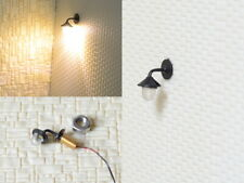 Wandlampen LED Straßenlampen 1-flammig für H0 Häuser Gebäude Set 5 Stück S270