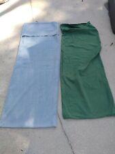 Lot of 2 Body Pillow Case Size 20x54 green blue zipper