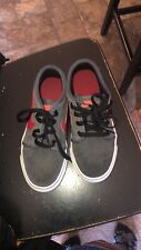 Preowned Nike boy's grey/red lace up sneakers 3.5M USA