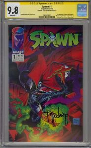 SPAWN #1 CGC 9.8 SS SIGNED TODD MCFARLANE 1ST APPEARANCE SPAWN AL SIMMONS