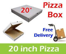 "50 Plain White Pizza Boxes 20"" Inch Pizza Takeaway Packaging Box, Pizza Box"