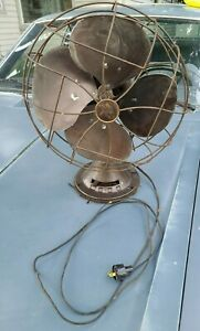 Vintage Cast Emerson Electric Oscillating Fan 77646 AS Tested Working Smooth