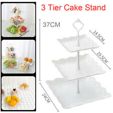 NEW 3-Tier Wedding Birthday Party Cake Plate Stand Tray Cupcake Display Tower