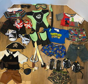 Build-A-Bear BABW BOY CLOTHING LOT STAR WARS NINJA TURTLES SCUBA PIRATE ++++