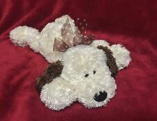 GUND White & Brown Shaggy Hair Puppy Dog Floppy PLUSH Stuffed Animal 14""