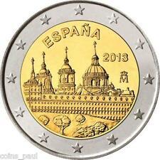 Spain Espagne 2 euro 2013, The Royal Seat of San Lorenzo de El Escorial , UNC