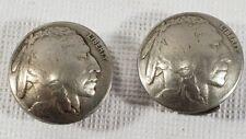 Silver Indian Head Nickel Antique Coin Button