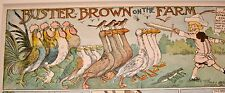 'BUSTER BROWN ON THE FARM' R.F. Outcault 1905 Orig  Children's Cartoon Print