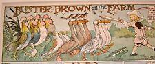 'BUSTER BROWN ON THE FARM' R.F. Outcault 1905 Orig  Children's Cartoon Print