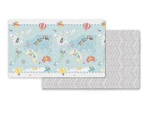 "Little Traveler's Skip Hop Foam Baby Reversible Foam Floor Play Mat 86""x 52"" NEW"