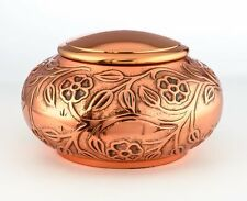 COPPER FUNERAL CREMATION URNS, FOR HUMAN ASHES, DECORATIVE