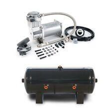 Viair 380C 200 PSI Max Pewter Compressor W 2 G 6 Port Tank Air Ride Train Horns