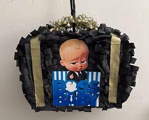 "Boss Baby Black Suitcase Custom Made Pinata 16"" x  13"" x 6"" W"