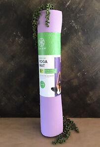 Gaiam Premium 5mm Yoga Gym Mat ~ Purple ~Extra Thick Stabilizing Grip ~BRAND NEW