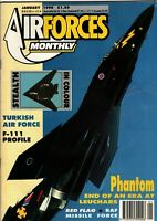 Air Forces Monthly Magazine 1990 January Leuchars Phantom,Boscombe Down,F-111