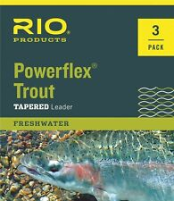 RIO Powerflex Trout Leaders 3 Pack - Size - 3X - 9ft - 8.2lb - New