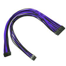 24pin Cable de alimentación de Manga Negro Púrpura Evga E-Series G3/G2/P2/T2