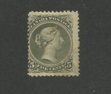 Queen Victoria 1875 Canada 5c Green Stamp #26 Scott Value $2,000