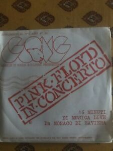 """INTROVABILE 33g. 7"""" GONG Concerto PINK FLOYD OTTIME CONDIZIONI"""