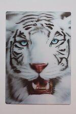 3D Moving Snow Leopard Tiger Lion Big Cat Vintage 80s Postcard Sticker