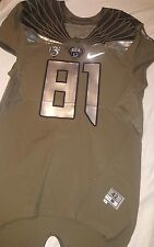 2014 Oregon Ducks Spring Game Authentic Game Jersey # 81 w/ COA Size 42