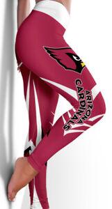 2021 Women High Waist Arizona Cardinals Leggings Ruched Anti-Cellulite Yoga Pant